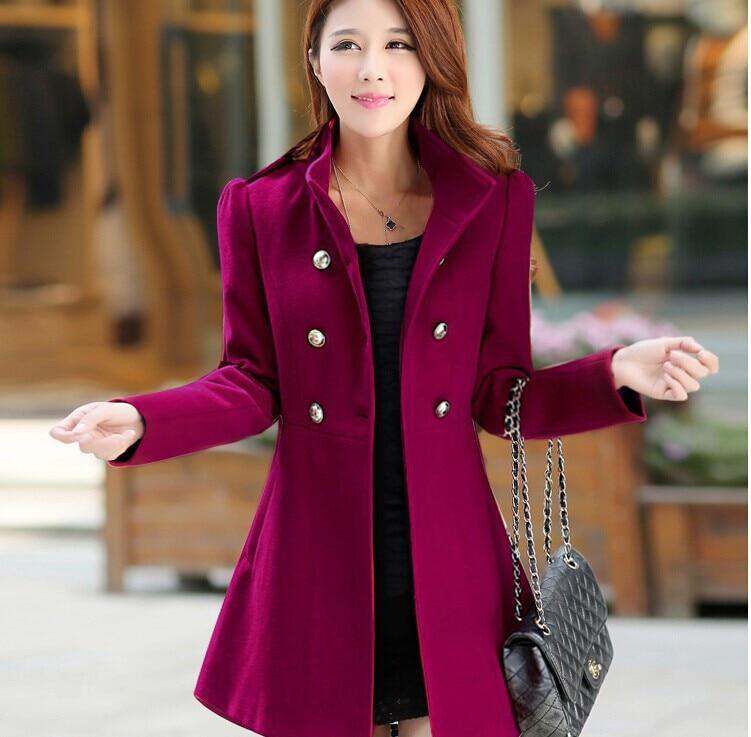 2016 new women coat slim long limited sale real whom winter cloth coat of cultivate dress, summer fall woolen cloth coat Full