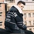 Viishow Homens Jaqueta de Inverno da Marca Hip Hop Estilo Homens Casaco Parka Com Capuz Casuais Jaqueta de Impressão À Prova de Vento Mens Roupas M122454