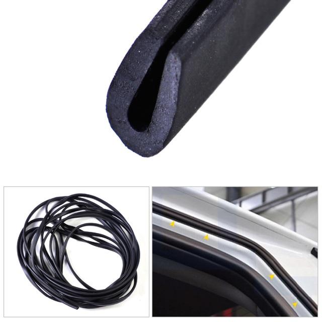 "beler New Black Rubber 1/4"" X 1/8"" Universal Black Soft Flexible Weatherstrip U Channel Seal Rubber Edge 20ft 6m Car Styling"