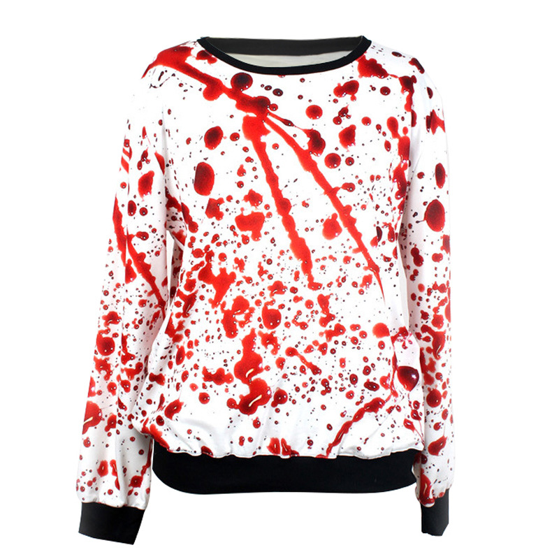 Hoodies Sweatshirts Women Halloween Horror Blood 3d Printed Pullovers Hoodies Tracksuit Tops Men Couple Hoodies sudaderas mujer ...