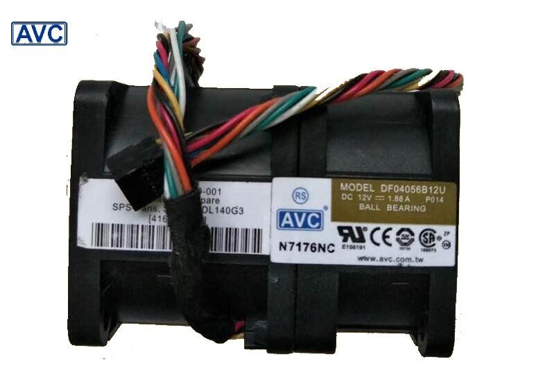 AVC New 4056 DF04056B12U 4cm 12V 1.88A pressurized wind 1U server cooling fan 40*40*56mm