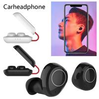 SY02 TWS Bluetooth Earphone True Wireless Binaural Earbuds Fast Pairing With Charging Bin Stereo Clear Sound Headset Black White