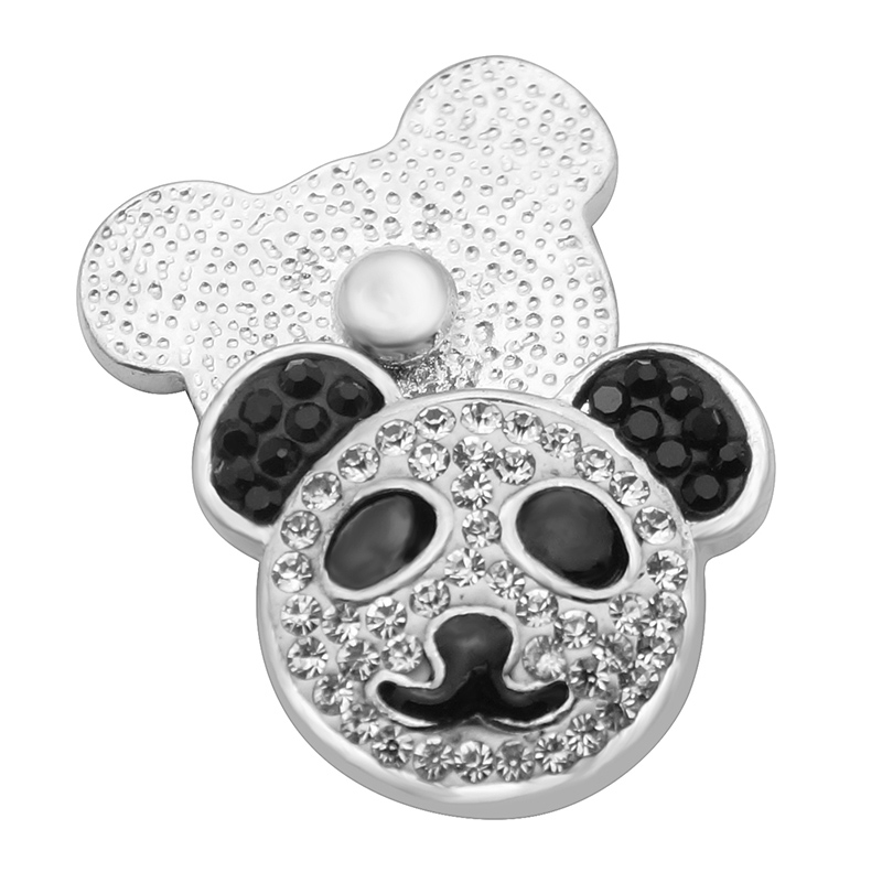 New Fashion Colorful Lovely panda Rhinestone&Clay manual 18MM snap buttons DIY snap jewelry wholesale KZ2144New Fashion Colorful Lovely panda Rhinestone&Clay manual 18MM snap buttons DIY snap jewelry wholesale KZ2144