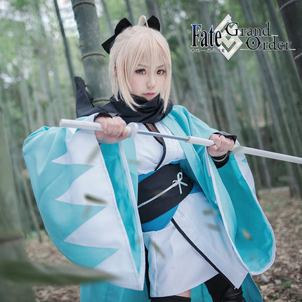 Anime Fate Grand Order Okita Souji Sakura Saber Cosplay Costume Artoria Pendragon Anime Cosplay Halloween Costume