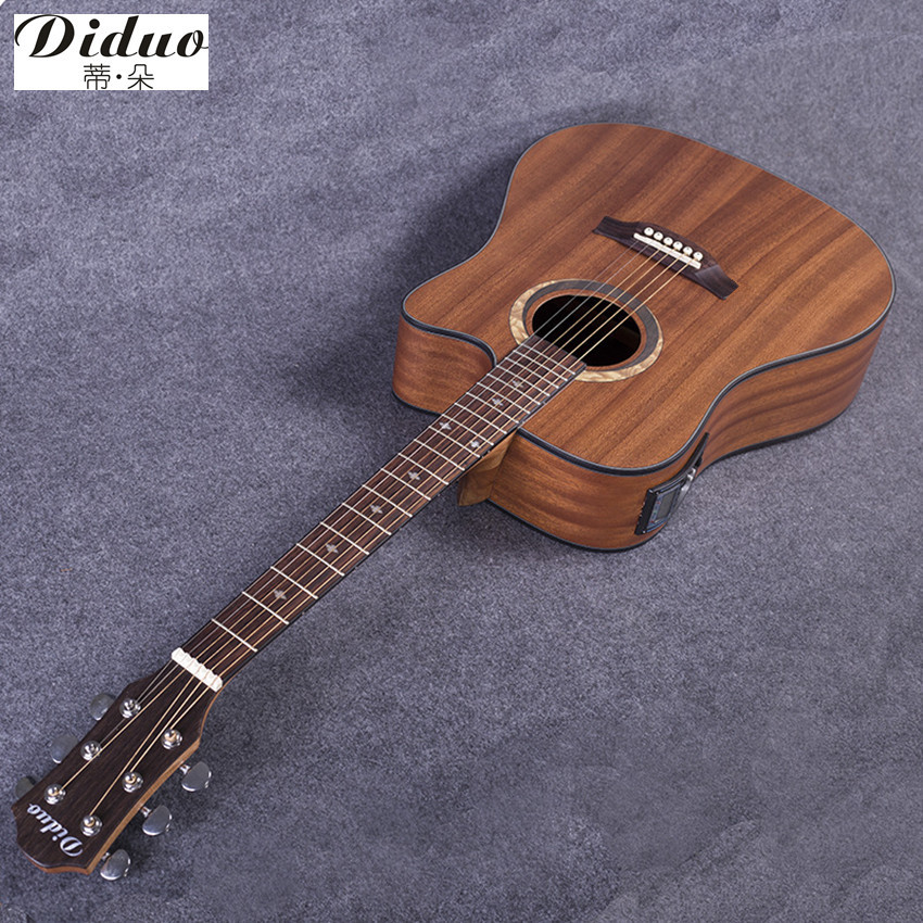 buy diduo guitars 41 inch sapele electric acoustic guitar rosewood fingerboard. Black Bedroom Furniture Sets. Home Design Ideas
