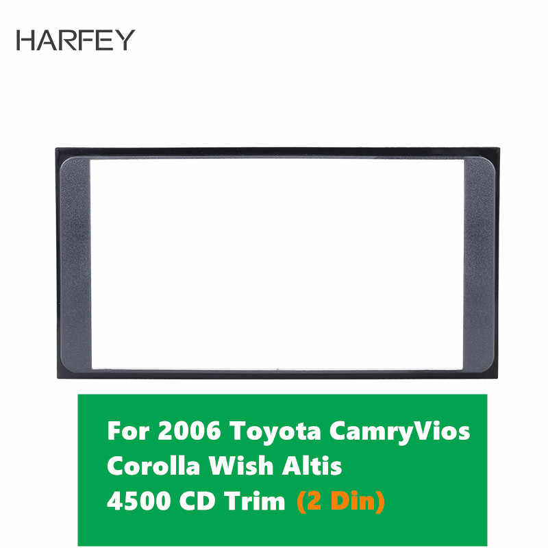 Harfey 2 Din Car Radio Fascia Frame Panel Installation Kit for 2006 Toyota Camry Vios Corolla Wish Altis 4500 CD Trim Mount Kit