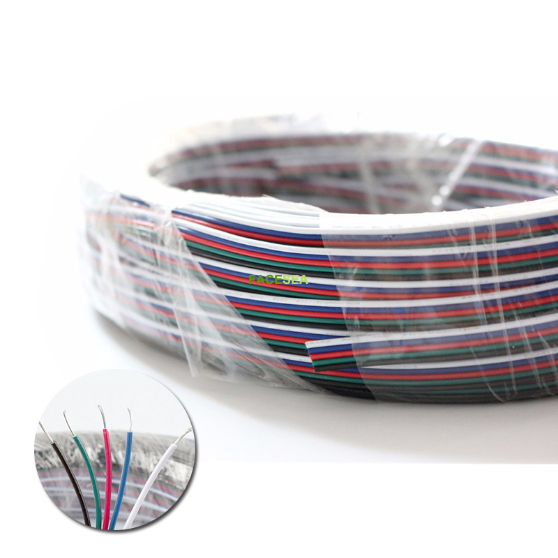 10~100m 2pin3pin 4pin 5pin LED Cable Extension Wire Cord Connector For SMD 3528 5050 5630 LED Strip Lights Lighting Tape 22AWG