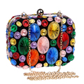 HOT beaded handbags colorful acrylic evening bags clutch purse evening bags for wedding/dinner/party tote