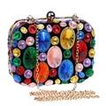 QUENTE bolsas de contas coloridas de acrílico noite bolsas clutch purse sacos de noite para o casamento/jantar/festa bolsa