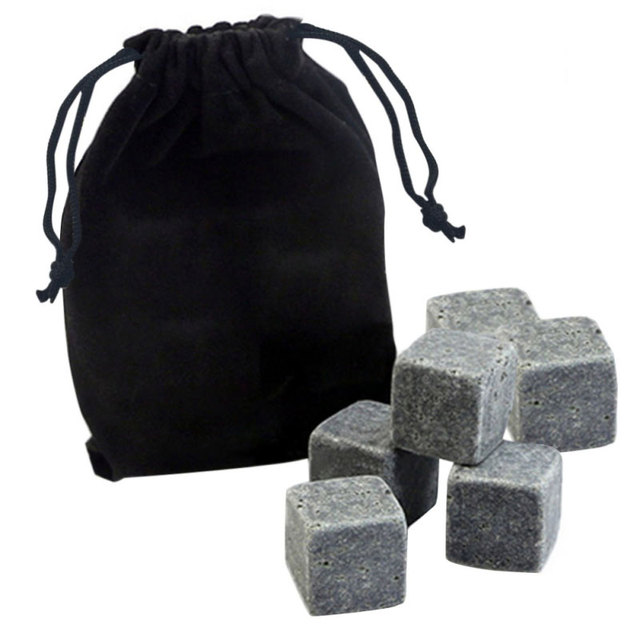 6pcs Bag Whisky Stones Set Safe Bar Ice Alcohol Accessories Tools Beer