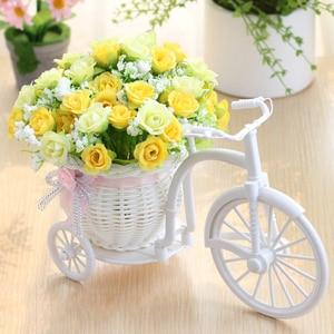 Image 3 - מתנת חג אהבת ראטאן אגרטל + פרחי מטרים אביב נוף עלה מלאכותי פרח סט בית חתונת קישוט יום הולדת מתנה