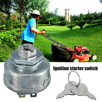 Lawn Mower Ignition Starter 5 Spade Terminal Engine Starter Switch Switch with Key for Husqvarna 725-0267 725-0267A 925-0267
