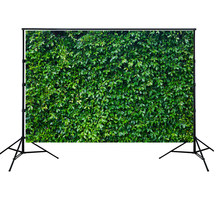 HUAYI Green Leaves Wall Backdrop for Birthday Nature Fresh Grass Background Baby Bridal Shower Wedding Photocall Studio W-2101(China)
