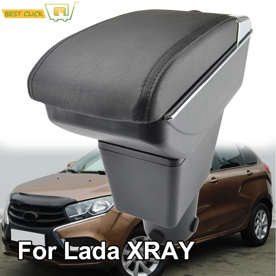 Central Storage Box For LADA XRAY I 2015 2018 BA3 Arm Rest Dual Armrest Cup Holder