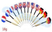 50pcs 18g demon flame Professional national flag Steel Tip Darts Flight Dart Indoor sports 16model choose