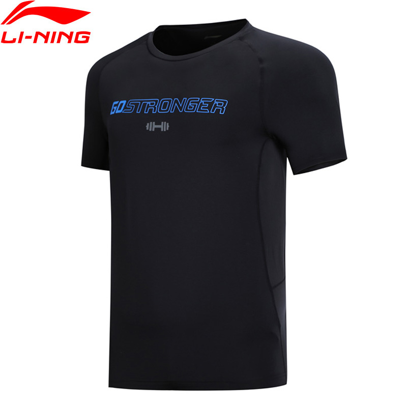 Li-Ning Men Training Series T-Shirt Breathable Regular Fit Polyester Spandex LiNing Li Ning Sports Tee Tops ATSN207 MTS2859