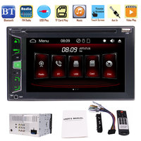 2 DIN Car Radio Stereo with 3 UIs Capacitive Touch Screen support Bluetooth USB/T DVD Player In Dash Head Unit AM FM RDS Radio