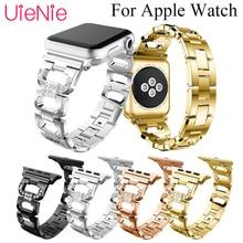 цена D shape crystal wristband For Apple Watch 40mm 44mm 38mm 42mm smart watch strap for Apple Watch series 4 3 2 1 iWatch bracelet онлайн в 2017 году