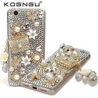 Kogngu Handmade Accessories Soft Tpu Bumper For Xiaomi Mi 5s Case Luxury Crystal Diamond Bling Case