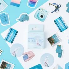 46pcs/box Blue girl Kawaii paper stickers Diary decoration diy scrapbooking label seal Hand account sticker stationery