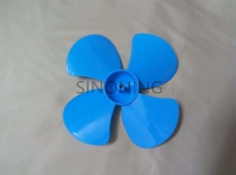 10pcs 56mm/80mm/100mm diameter plastic blade four leaf pulp fan leaves small production DIY Blue