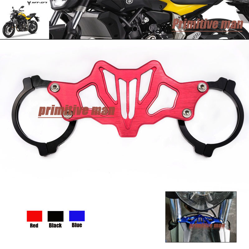 Подробнее о For YAMAHA MT-07 MT07 MT 07 FZ07 FZ 07 FZ-07 2014-2016 Motorcycle Accessories Balance Shock Front Fork Brace Red for yamaha mt07 fz07 mt 07 fz 07 2014 2015 motorcycle cnc billet aluminum front fork cover caps free shipping
