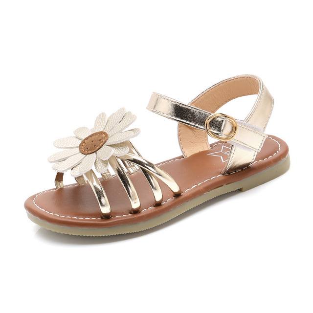 a6da0676274 COZULMA Summer Kids Shoes for Girls Baby Girls Sandals Children PU Leather  Sun Flowers Shoes Princess Gladiator Dress Shoes