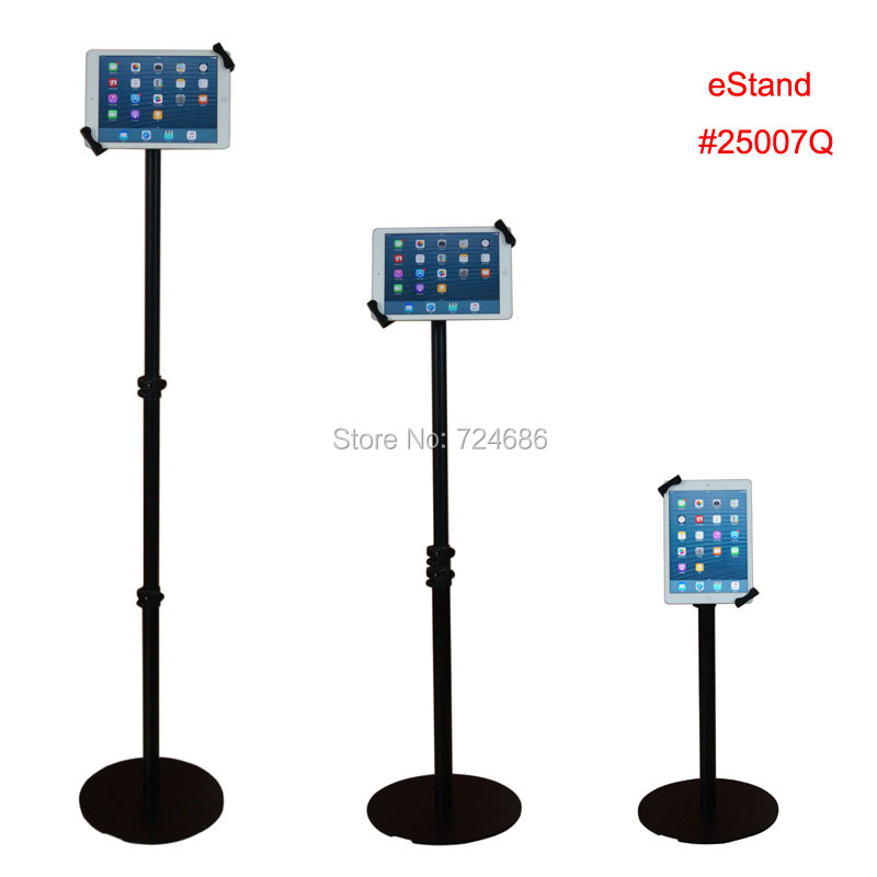 universal 7-10.1 inch tablet floor lock stand secure kiosk height adjustable display for Samsung Tab A/ S/ 9.7 for LENOVO 65 inch touch screen windows i3 floor stand kiosk digital signage advertisement player for photo booth totem
