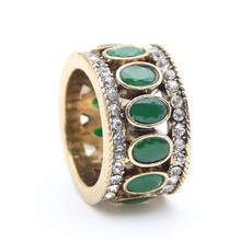 Hot Sale Romantic Antique Turkish Vintage Hollow out Ring Retro Gold Plating Ring Anniversary Party Ethnic Jewelry Favorite Gift
