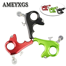 1pc Arcehry Aluminum alloy 3 Finger Release Aids Thumb Grip Trigger Caliper Outdoor Bow And Arrow Hunting Shooting Accessories 1pc arcehry aluminum alloy 3 finger release aids thumb grip trigger caliper outdoor bow and arrow hunting shooting accessories