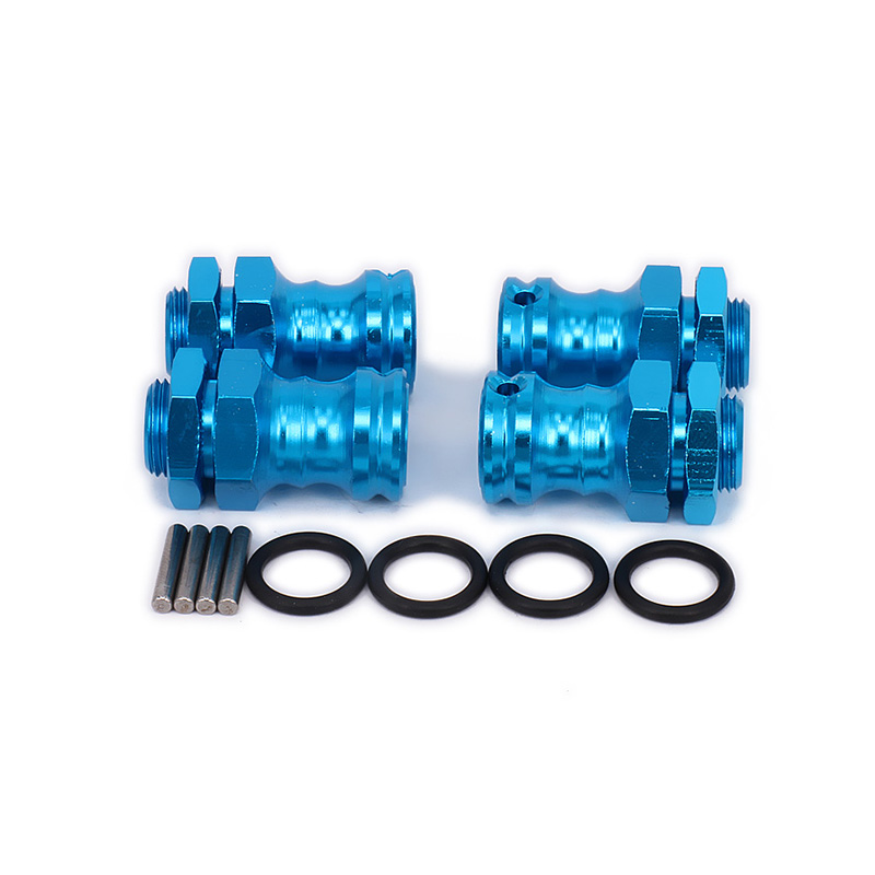 Wheel Hex Hub M17 17mm M23 23mm Extension Adapter 12mm Nut  x 4 Longer Combiner Coupler For 1/8 RC Car Upgraded Parts HSP 1 pair car aluminum wheel spacer adapter hub flange 5x100 25mm for mg5 mg6 mg7 mg350 mg550 mg750