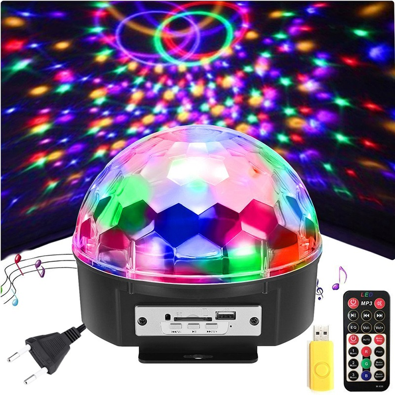 9 Colors 18W DJ Disco Ball Laser Projector Lumiere Stage Lamp Sound Activated Music Party Light Holiday Christmas Dance Light