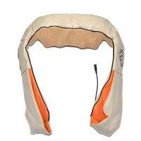 Amkee U Shape Electronic Shiatsu Back Neck Shoulder Body Massager 4D Infrared Heated Kneading Car Home