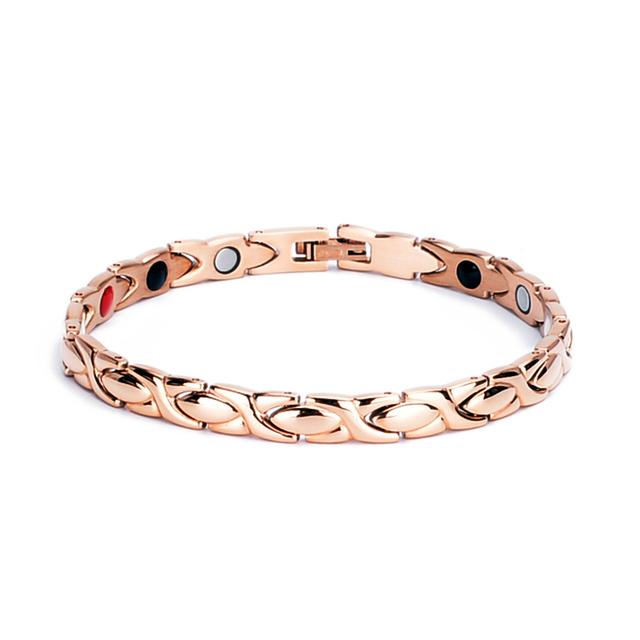 Oktrendy Magnetic Ladies Bracelets Jewellery Stainless Steel Bracelet For Women Rose Gold Color Tennis Bracelet Dropshipping