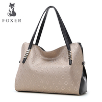 FOXER BRAND Fashion Gold Shoulder Bags High Quality Leather Women S Handbags Ladies Favourite Handle Bag