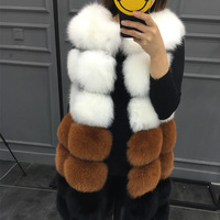 Faux Fur Coat Winter Women 2018 New Fashion Casual Warm Slim Sleeveless Faux Fox Fur Vest Winter Jacket Women Casaco Feminino