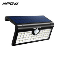 Mpow CD131 42 LED Solar Lights Portable Foldable Outdoor Camp Solar Lamp With Motion Sensor Waterproof Slim Bright For Driveway
