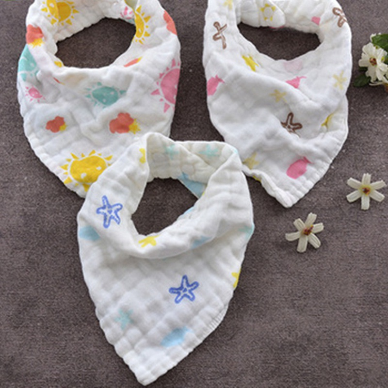 Cotton Triangle Baby Bibs Bandana Bib for Infant Saliva Scarf Cartoon Newborn Babador Ba ...