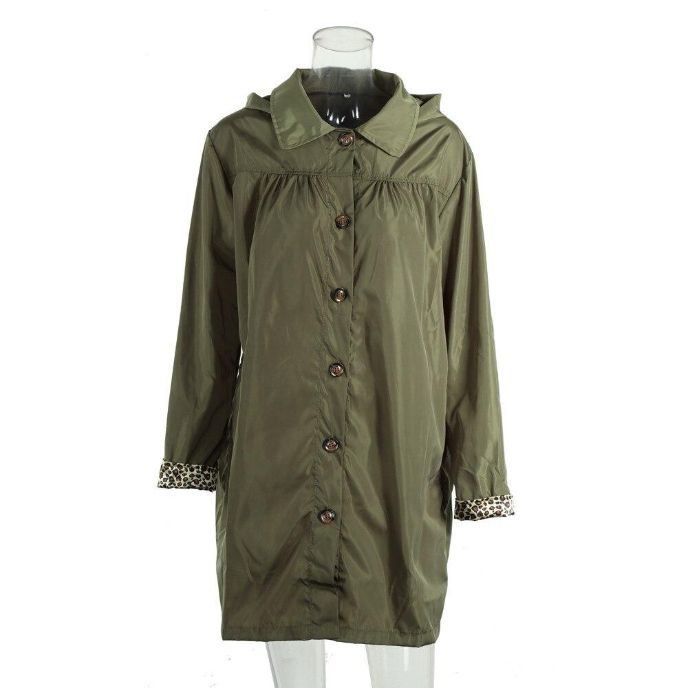 385c3d99eda 2018 Autumn Spring Women s Hooded Lightweight Waterproof Rain Jacket Plus  Size 2XL