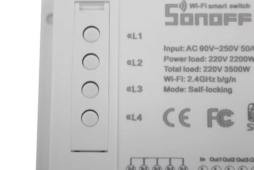 Sonoff 4CH 4 kanałowy inteligentny włącznik WIFI do montażu na szynie din bezprzewodowy przełącznik, inteligentny dom sterowania 4 sprzętu gospodarstwa domowego za pomocą smartfona