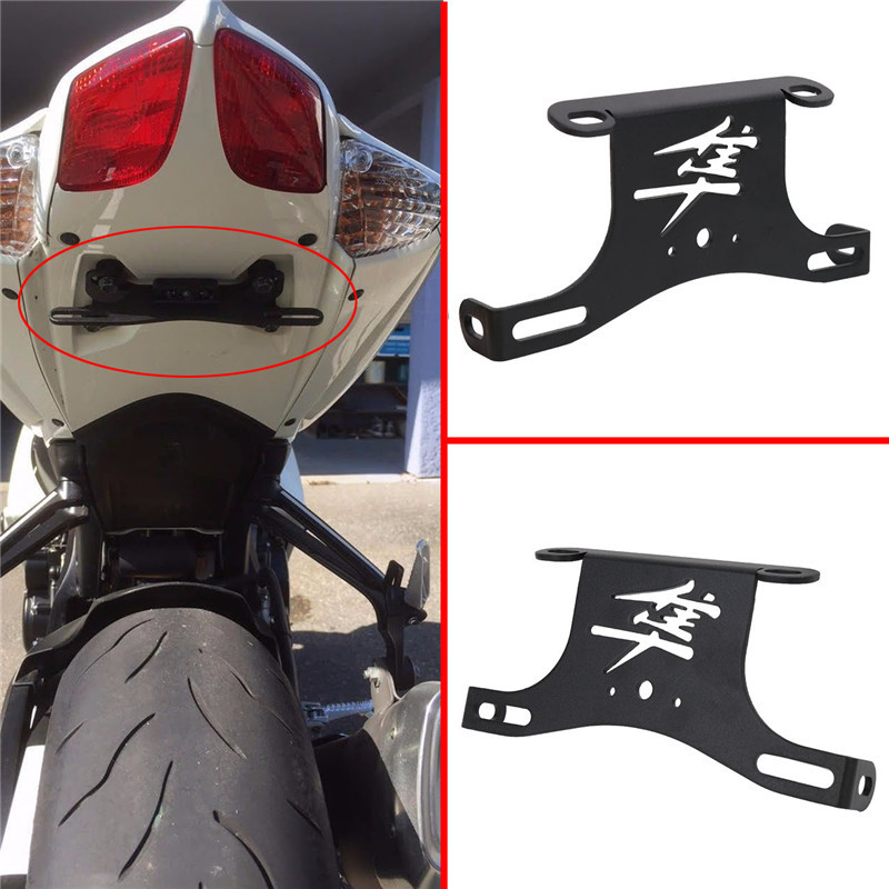 motorcycle accessories Fender Eliminator License Plate Bracket Hoder Tidy Tail for Suzuki Hayabusa SM Pl 2008--2016 C/5 for suzuki gsxr1000 2007 2008 motorcycle licence plate bracket tail tidy rear fender eliminator billet aluminum