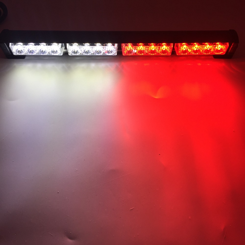 16 Led High Power 12V Auto Vrachtwagen Led Strobe Light Brandweerman Politie Flashing Noodwaarschuwing Lights Rood Blauw Geel wit Groen 5
