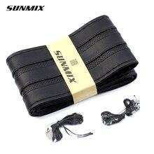 SUNMIX спорт Дышащий типа руль чехол мягкий кожаный руль обложка черный и красный стиль классический кос колеса автомобиля крышки
