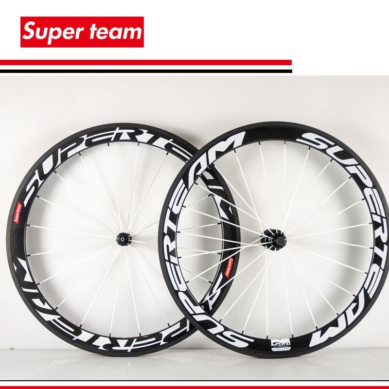 100% carbon fiber clincher wheelset T700c bicycle carbon wheels 700c 50mm matte finish Mix decal