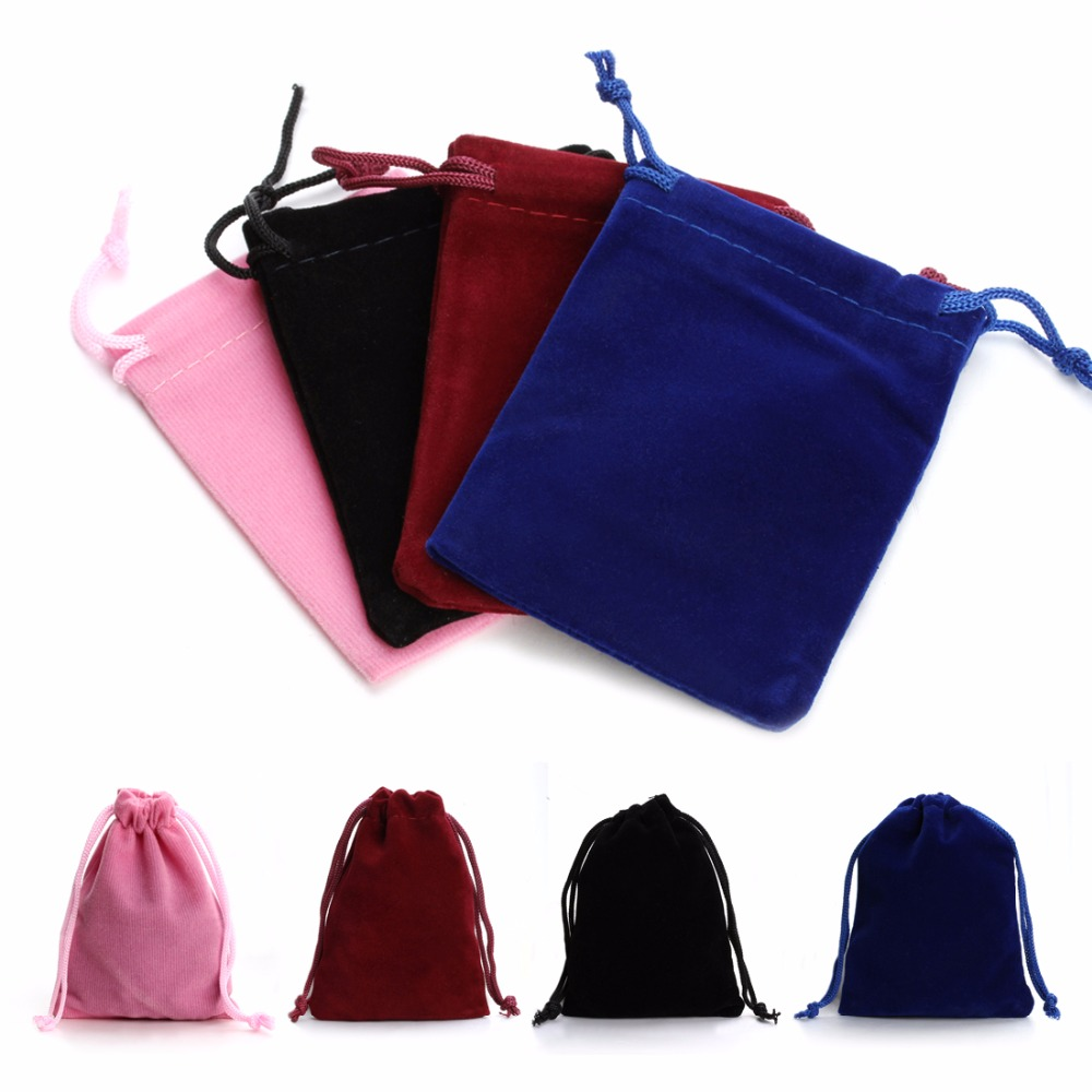 LOULEUR 10Pcs 7*9cm 9*12cm Velvet Bag Drawstring Pouch Necklace Bracelet Beads Bags Jewelry Packaging Christmas/Wedding Gfit Bag