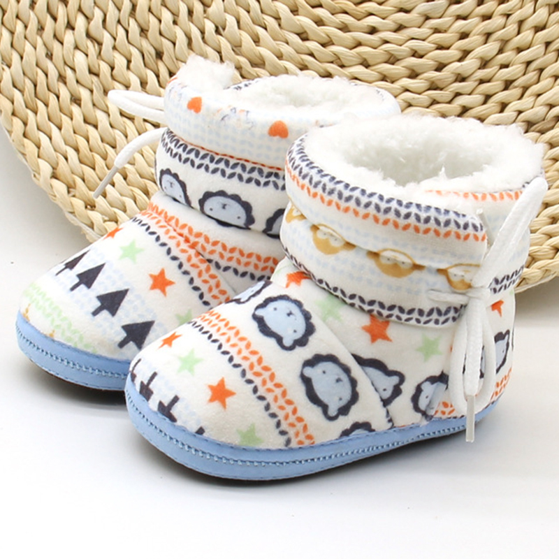 Toddler Baby Girls Boys Shoes Snow Boots Winter Booties Booties Sole Slipper New