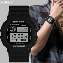 HONHX Men Women Watch Luxury Analog Outdoor Sport Waterproof LED Digital Wrist Watch Mens Military Style Waterproof Watches(China)