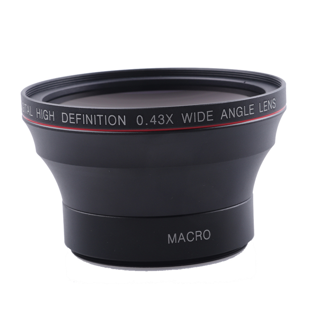 Us 249 58mm 043x Wide Angle Lens Macro Lens For Cannon 750dd350d 400d 450d 500d 1000d 550d 600d 1100d 1300d 18 55mm Lens In Camera