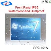 10,1 дюймов высокая Яркость 64 г SSD Embedded IP65 промышленных Сенсорный экран Панель ПК для ATM и рекламные автоматы и POS Системы