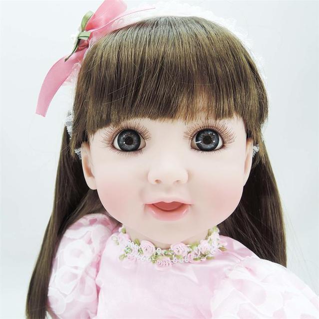 60cm silicone reborn baby princess doll toy